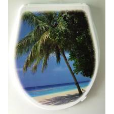 Крышка для унитаза «ЭЛИТ» с декором пальма