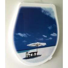 Крышка для унитаза «ЭЛИТ» с декором пляж