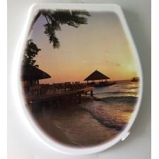 Крышка для унитаза «ЭЛИТ» с декором закат